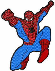 spider-man machine embroidery pattern spider man