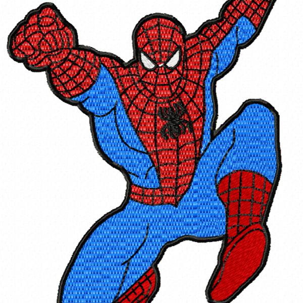 motif de broderie machine spider-man l'homme araignée