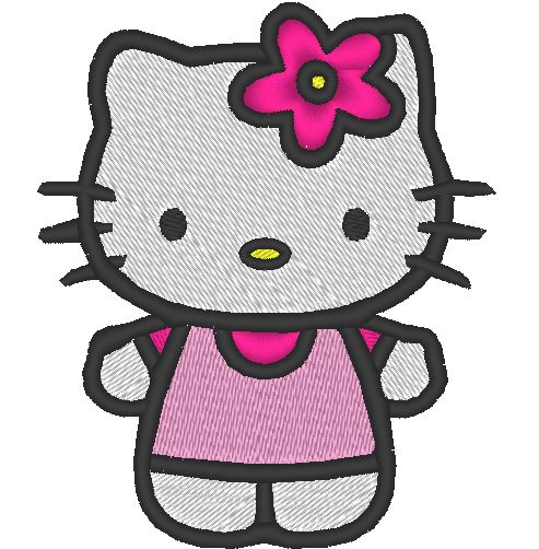 hello kitty embroidery machine pattern