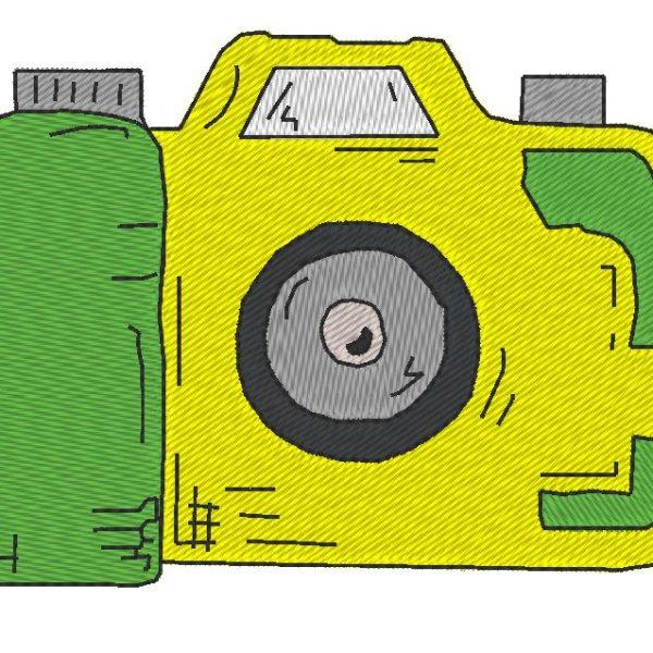 câmera vintage 2 máquina de bordar padrão