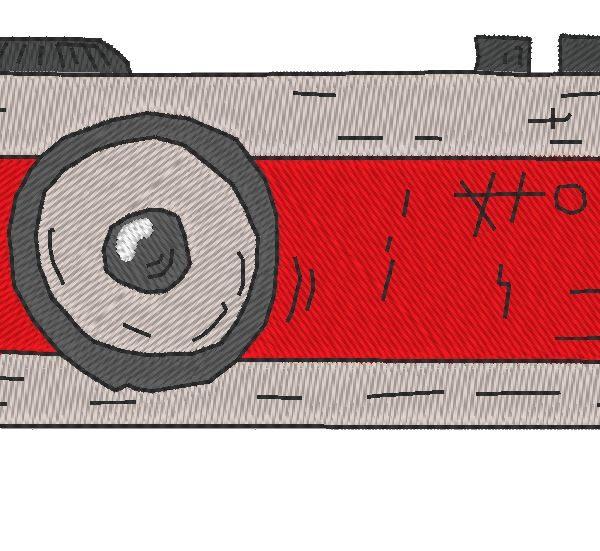 appareil photo vintage 4 motif pour machine à broder tous les formats