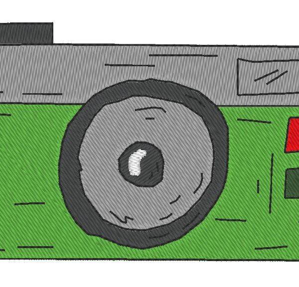patrón de máquina de bordado 5 de cámara vintage