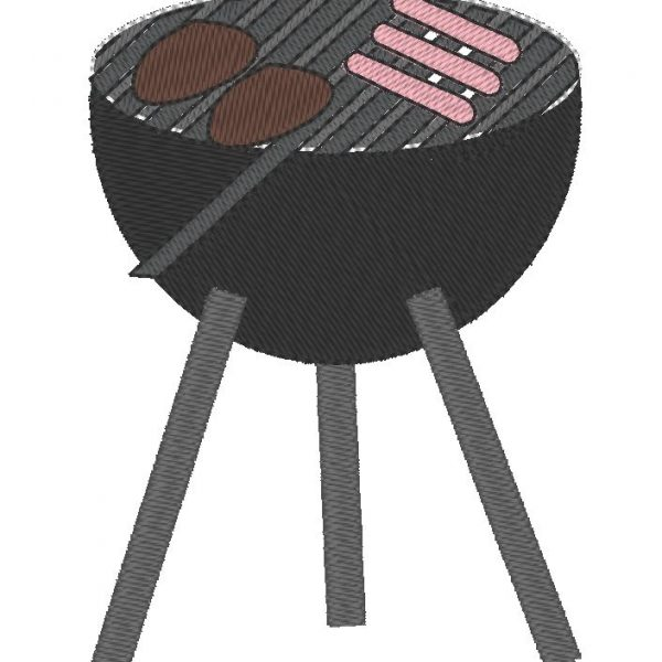 barbecue ou BBQ motif de broderie machine