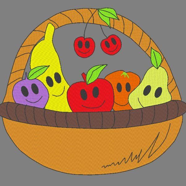 سلة الفاكهة مضحك تصميم آلة التطريز