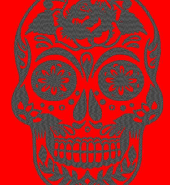 skull day of the dead machine embroidery design