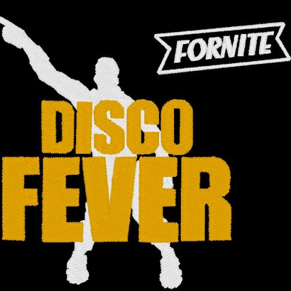 disco fever fornite embroidery design video game machine