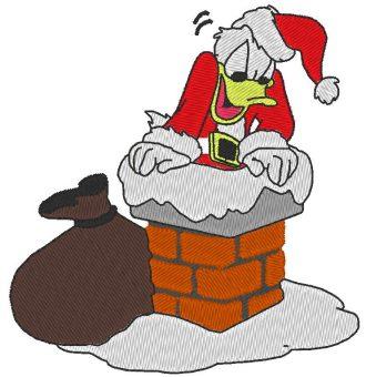 Donald juega patrón de máquina de bordar de Santa Claus