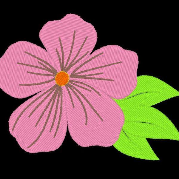 motif de broderie machine d'une fleur rose