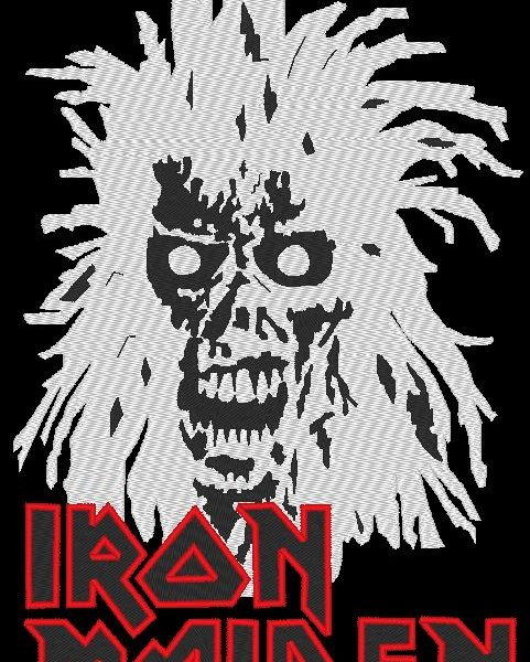 motif de broderie machine Iron maiden