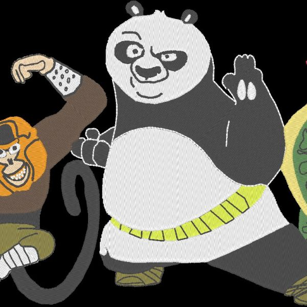 Kung fu panda machine embroidery design