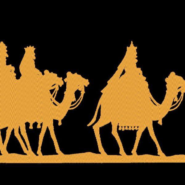 el diseño de bordado de máquina de tres reyes magos