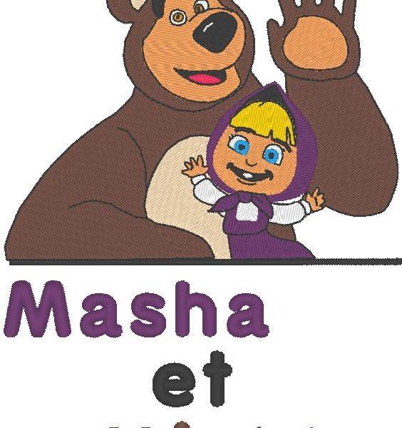 ماشا و michka تصاميم آلة التطريز