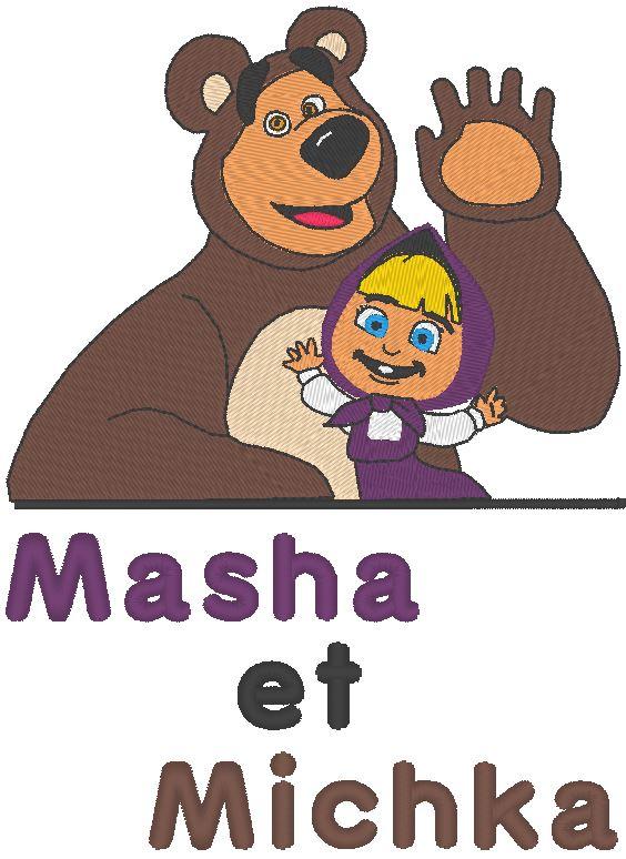 masha et michka motifs de broderie machine