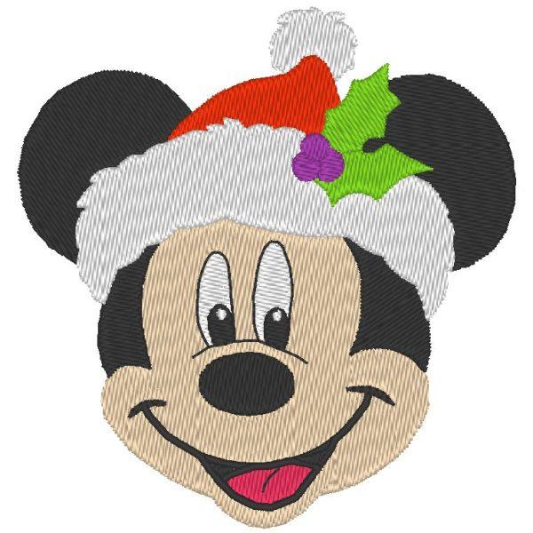 Mickey de noël motif de broderie machine