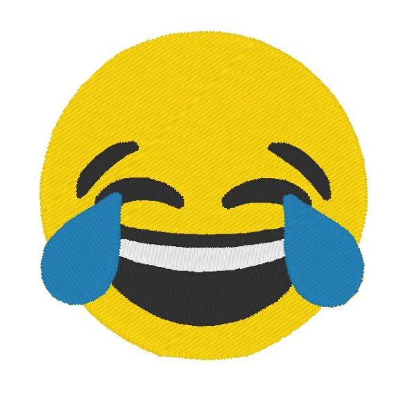 diseño de bordado de máquina de risa