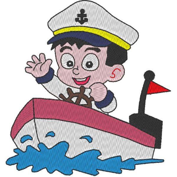 petit matelot motif de broderie