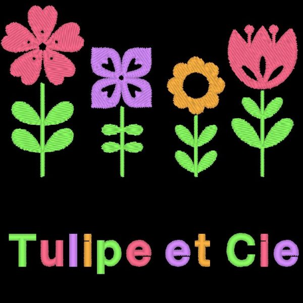 tulip and company machine embroidery design