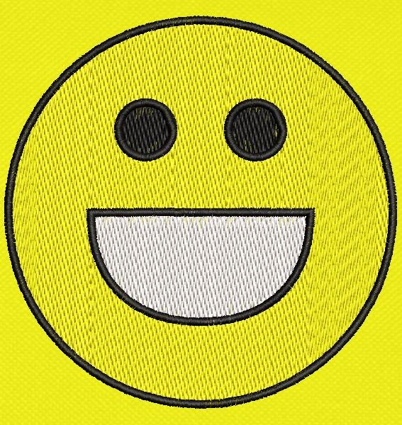 Happy emoticon Machine design frame 10 × 10 PES ، CSD ، EXP ، HUS ، SHV ، VIP ، XXX ، DST ، PCS ، JEF ، VP3 ، SEW ، تنسيقات ملفات EMB ... تنزيل فوري