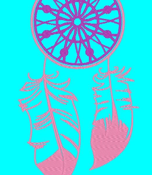 dream catcher machine embroidery design
