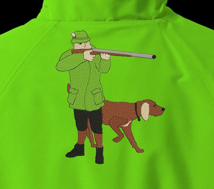 chasseur et son chien de chasse Motif de broderie machine d'un chasseur et son chien de chasse ,entrain de viser avec son fusil cadre 20 x 30 Formats des fichiers PES,CSD,EXP,HUS,SHV,VIP,XXX,DST,PCS,VP3,SEW,EMB… Téléchargement immédiat