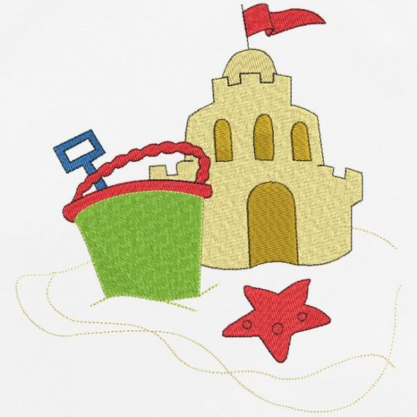sand castle Special holiday machine embroidery design of a sand castle with a bucket and shovel. I can not wait for summer !!! frame 10 x 10/20 x 20 File formats PES, CSD, EXP, HUS, SHV, VIP, XXX, DST, PCS, JEF, VP3, EMB ... Instant download after payment