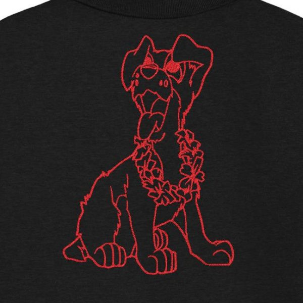 fun dog and his flower collar Redwork machine embroidery design of a dog too fun with his flower collar. frame 13 x 18/20 x 30 PES, CSD, EXP, HUS, SHV, VIP, XXX, DST, PCS, JEF, VP3, EMB file formats ... Instant download after payment