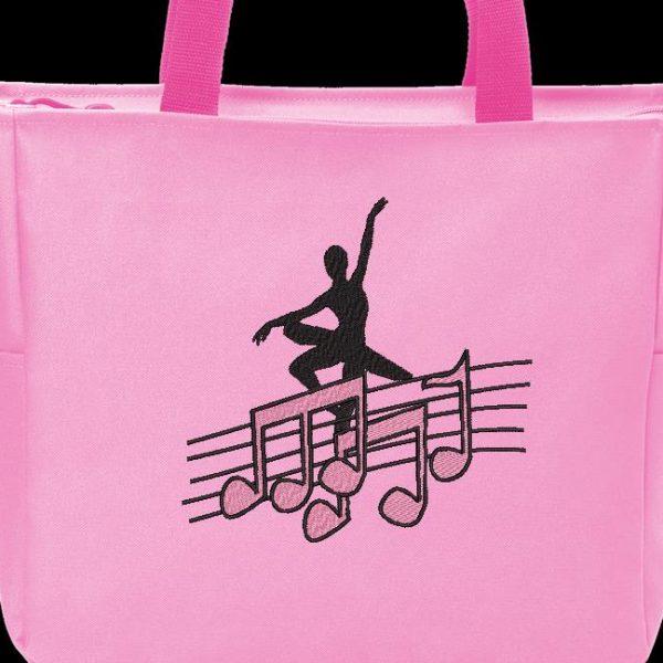 ballerino e note musicali Cornice per ricamo a macchina 18 x 13/30 x 20 Formati file PES, CSD, EXP, HUS, SHV, VIP, XXX, DST, PCS, JEF, VP3, SEW, EMB ... Download immediato