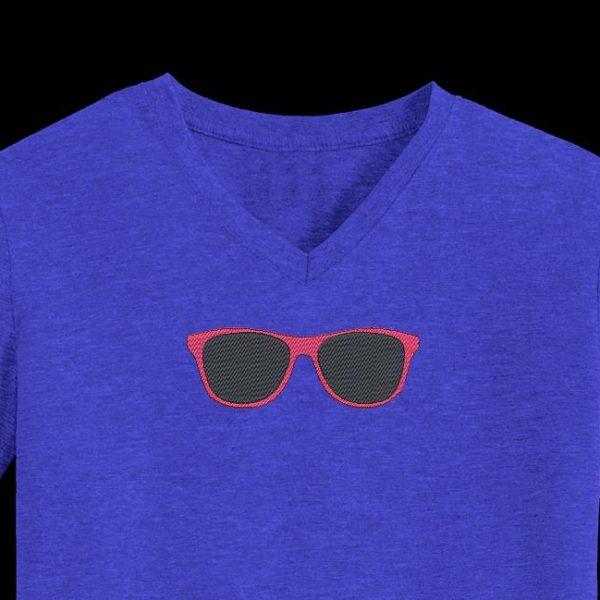 sunglasses free machine embroidery design Machine embroidery design frame 10 x 10/20 x 20 File formats PES, CSD, EXP, HUS, SHV, VIP, XXX, DST, PCS, JEF, VP3, SEW, EMB… Download immediate