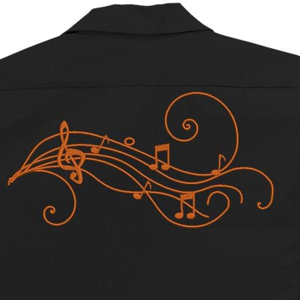 note musicali arabesque Cornice disegno ricamo a macchina 18 x 13/30 x 20 Formati file PES, CSD, EXP, HUS, SHV, VIP, XXX, DST, PCS, JEF, VP3, SEW, EMB ... Download immediato