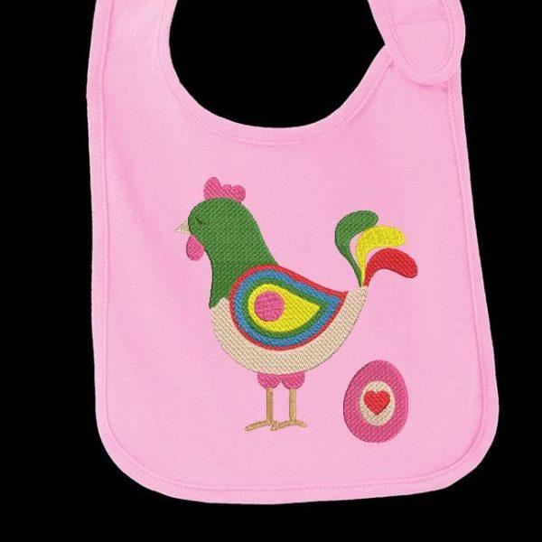 Desenho de bordado de máquina de download instantâneo de uma galinha e seu ovo