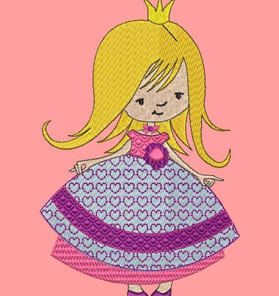 Pretty little princess frame de desenho de bordado de máquina 10 x 10/20 x 20 Formatos de arquivo PES, CSD, EXP, HUS, SHV, VIP, XXX, DST, PCS, JEF, VP3, SEW, EMB ... Download imediato