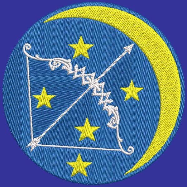 sagittaire signe du zodiaque motif de broderie machine