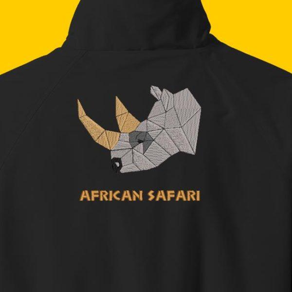 Diseño de bordado de máquina de descarga instantánea de una cabeza de rinoceronte
