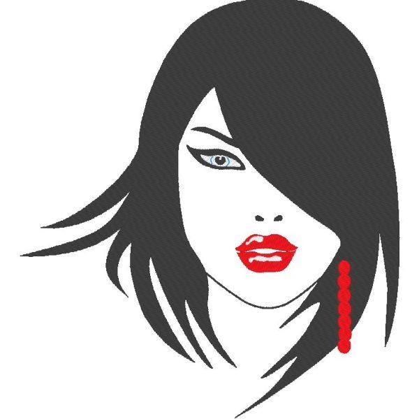 woman face 1 Machine embroidery design motif size 21.1 x 23.4 cm / 8.9 x 9.7 cm frame 24 x 24/10 x 10 File formats PES, CSD, EXP, HUS, SHV, VIP, XXX, DST, PCS, JEF Download immediate
