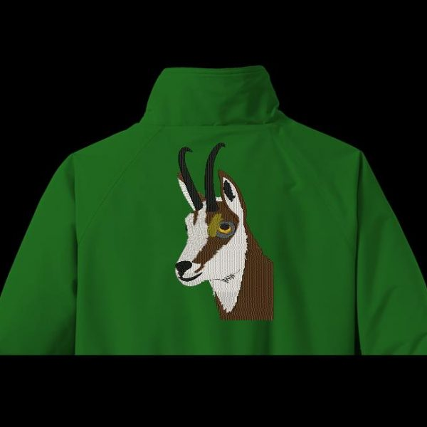Instant download machine embroidery design of a chamois head