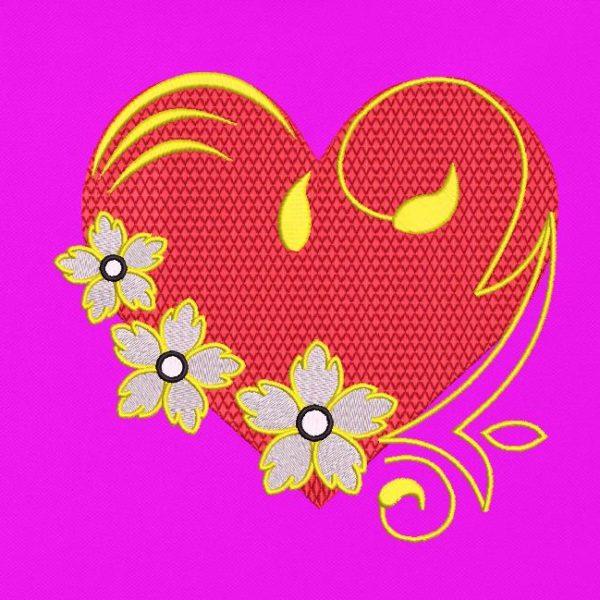 cœur fleuri arabesques