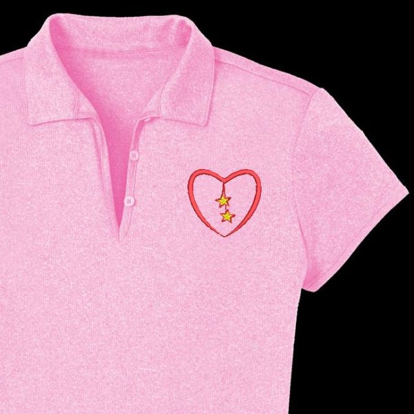 diseño de bordado de máquina de medallón de corazón gratis