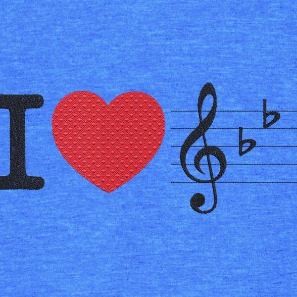 j'aime la musique. Motif de broderie machine j'aime la musique avec un gros cœur rouge. cadre 10 x 10 /13 x 18 / 16 x 26 . Formats des fichiers PES,CSD,EXP,HUS,SHV,VIP,XXX,DST,PCS,JEF,VP3,EMB… Téléchargement immédiat après votre paiement.
