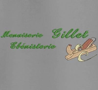 Menuiserie ébénisterie numérisation logo client , motif de broderie machine