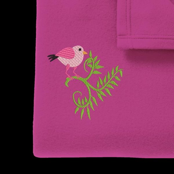 petit oiseau rose